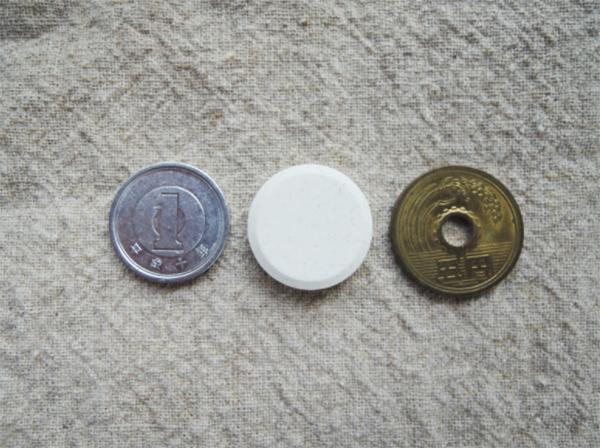 1円玉と5円玉と並べてみました